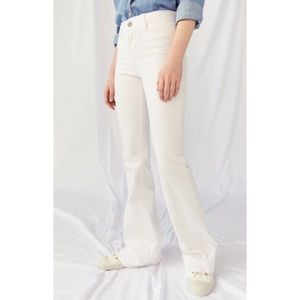 NWT MiH Marrakesh Kick Flare Jeans in White 29